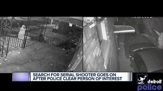 Search for serial shooter goes on after police clear person of interest