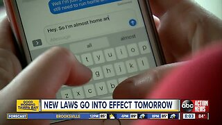 Texting while driving and several other new laws go into effect Monday