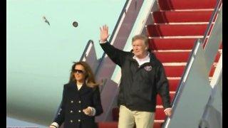 President Trump arrives in Palm Beach County
