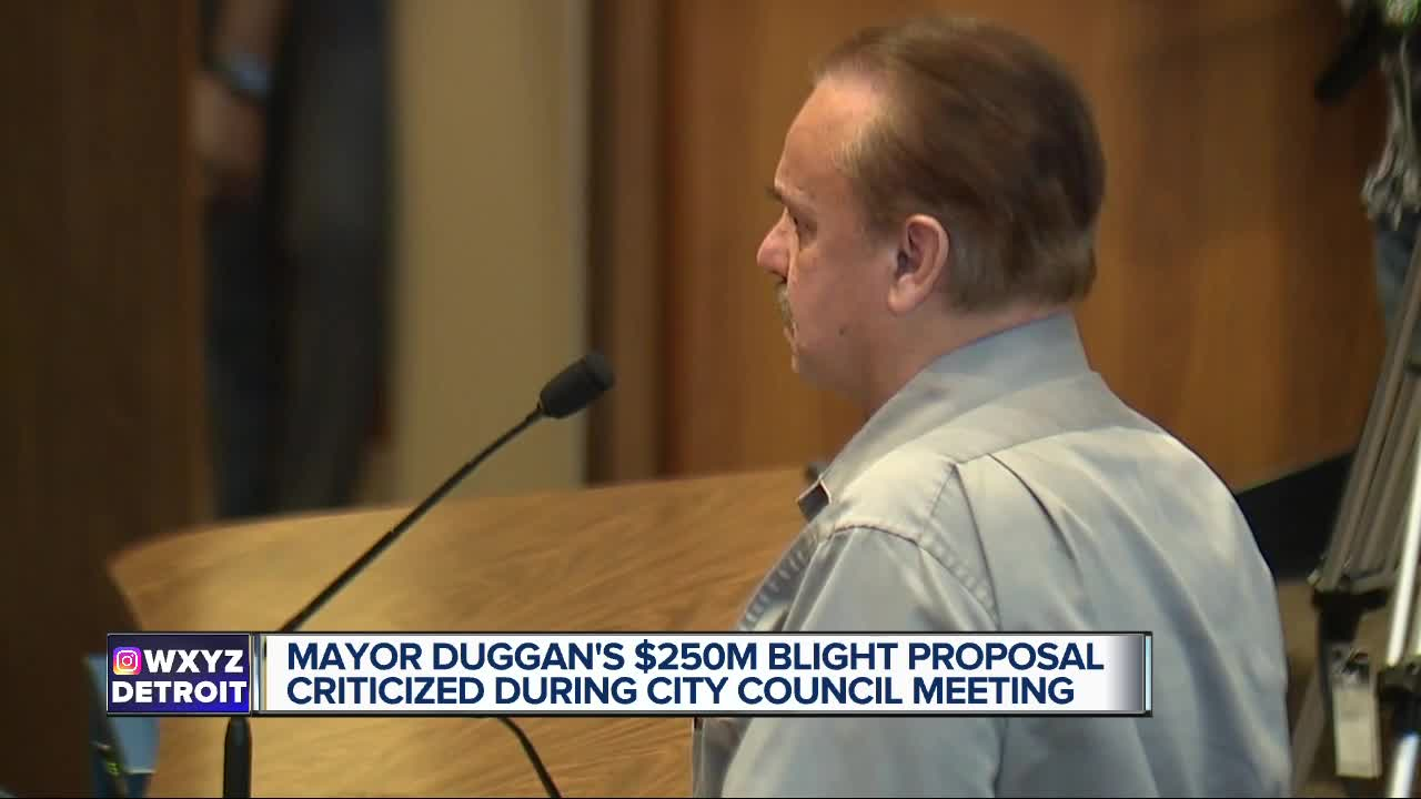 Mayor Duggan's $250M blight proposal criticized during City Council meeting