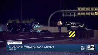 3 dead after wrong-way crash on West Loop 101 at Camelback Road