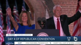 Pence accepts VP nomination at RNC; Trump to close convention