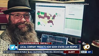 Local company predicts how soon states can reopen