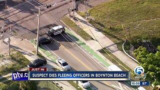 Suspect dies after fleeing police in Boynton Beach, West Palm Beach