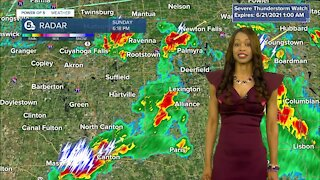 Strong storms possible Sunday night across Northeast Ohio