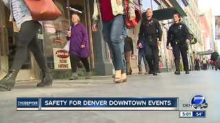 Safety for downtown Denver events
