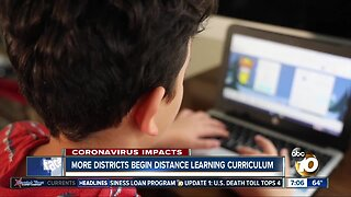 More school districts officially start distance learning