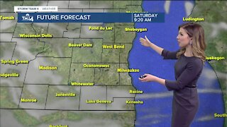 Sunny skies Saturday with highs near 50
