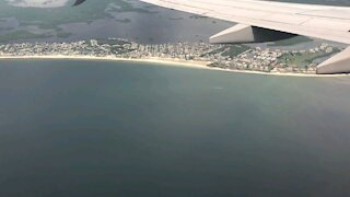 Flying by Fort Myers Beach
