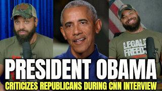 Obama Criticizes Republicans During CNN Interview