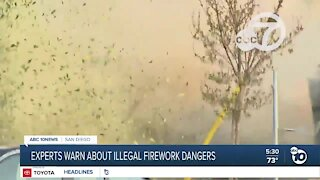 Experts warn about illegal fireworks