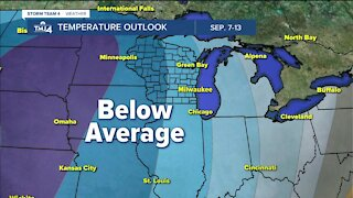 Cooler, less humid Tuesday in store