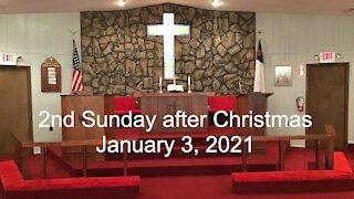 2nd Sunday after Christmas Worship - January 3, 2021