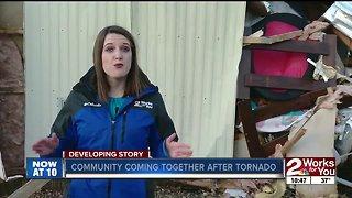 Community comes together after tornado