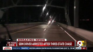 Semi driver arrested after three-state chase