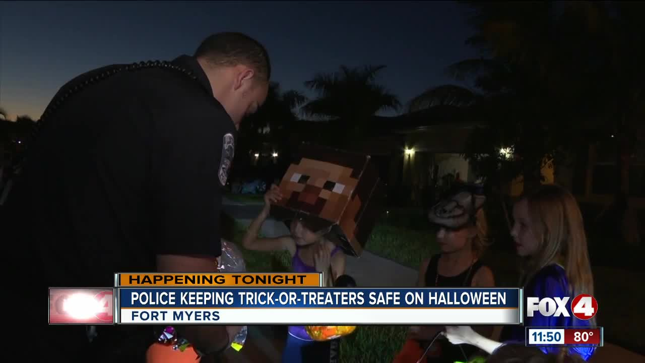 Fort Myers Police keep trick-or-treaters safe on Halloween