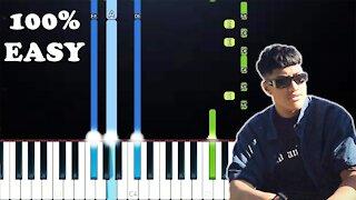 Jawsh 685 - Laxed (100% Easy Piano Tutorial)
