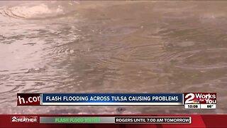 Flash flooding across Tulsa causing problems