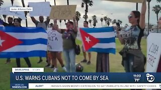 U.S. warns Cubans, Haitians not to come by sea