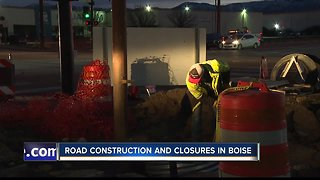 Construction and road closures in Boise