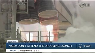 NASA asks people not to gather at launch
