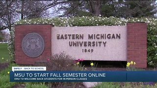 Eastern Michigan University welcoming back students for in-person classes