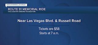 Route 91 memorial ride by the Country Strong Foundation