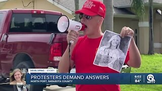 Community demands answers from Laundrie family, hold protest outside North Port home