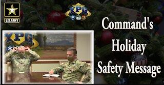 U.S. Army Yuma Proving Ground Holiday Safety Message