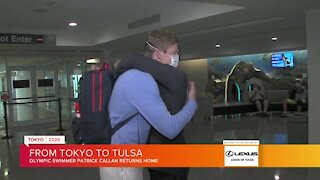 Local Olympic swimmer returns home from Tokyo