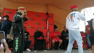 Julius Malema shows off his dance moves