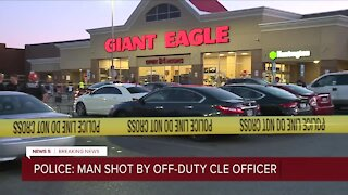 Man injured in officer-involved shooting at grocery store on Clevelands West Side