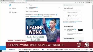 Leanne Wong wins silver at Worlds