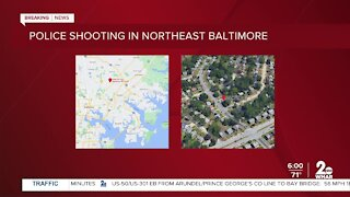 Police shooting in Northeast Baltimore