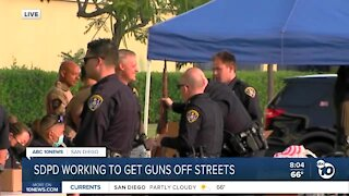 SDPD working to get guns off streets