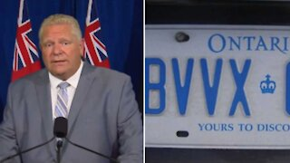 Ontario Police Are Ticketing Expired Plate Stickers Even Though Ford Says It's Okay