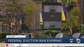 Federal eviction ban expiring