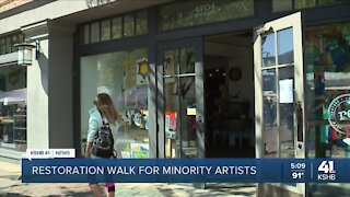Local business displays artwork by minorities to offer same industry opportunities for exposure