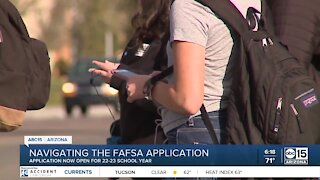 Navigating the FAFSA application