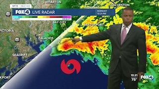 Monday night Tropical Storm Nicholas Update
