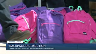 Salvation Army Hands out Backpacks from Your Donations