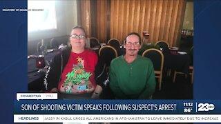 Son of shooting victim speaks following suspect's arrest
