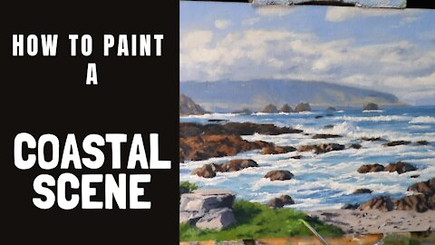 How to Paint a COASTAL Scene - tips for painting seascape studies, colour mixing and tonal values