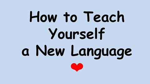 How to Teach Yourself a New Language