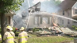 Cleveland firefighters respond to house explosion on city's East Side