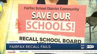 Fairfax Warriors efforts to recall school board trustees fails