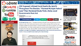 CDC Caught Inflating COVID Death Tolls, Says Peer-Reviewed Study