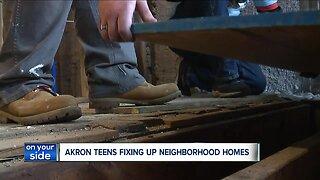 Akron teens fixing up homes to improve Summit Lake neighborhood