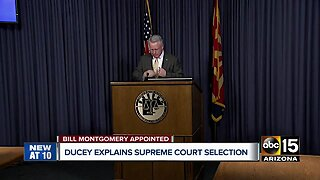 Bill Montgomery appointed to be next Arizona Supreme Court Justice