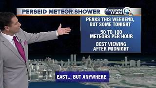 Perseid meteor shower peaks this weekend
